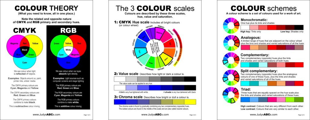 photo regarding Printable Color Wheel Pdf titled Printable color principle webpages - Judys ABCs