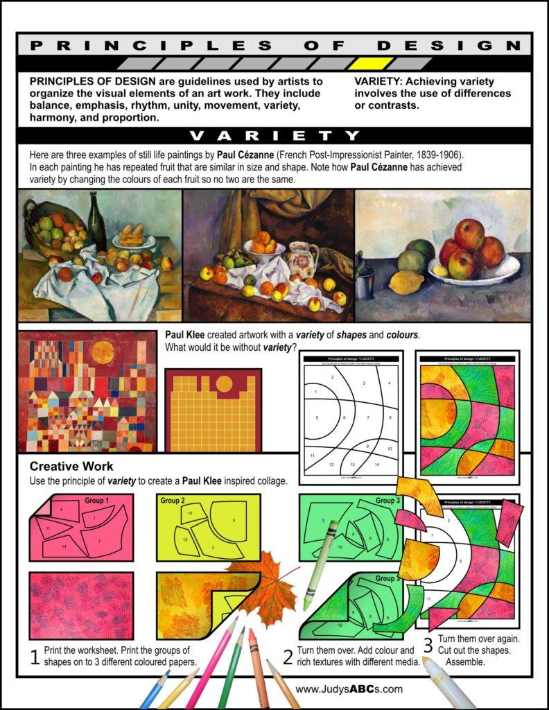 Principles of Design - Variety - Judy's ABC's